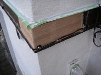 鼻隠し・破風板部分の木部補修工事10
