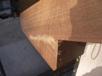 鼻隠し・破風板部分の木部補修工事3
