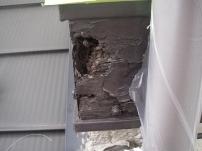 鼻隠し・破風板部分の木部補修工事4