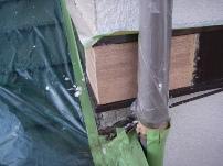 鼻隠し・破風板部分の木部補修工事6