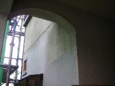 新規モルタル工事でアーチ状にデザイン