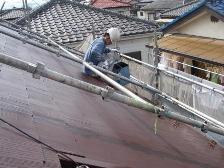 現場4 コロニアル屋根塗装