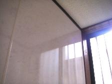 洗面所クロスをパネル板に張替工事5 タキロン セラリエX GXB691