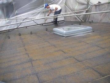 水洗い洗浄前の屋根の汚れ具合