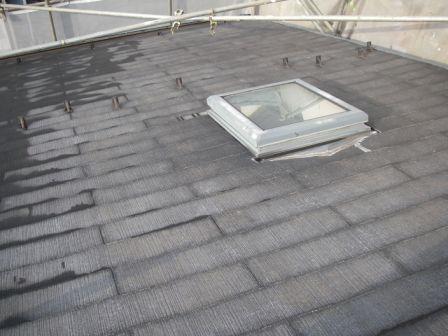 水洗い洗浄後の屋根の状態