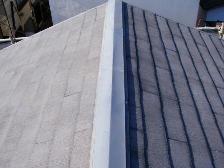 水洗い洗浄完了後の屋根の状態