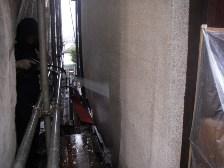 外壁側面水洗い洗浄