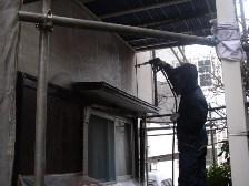 軒周辺の外壁水洗い洗浄