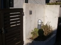 コンクリート塀塗装施工後