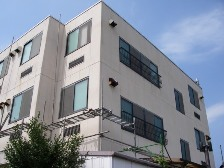 外壁塗装工事仮設足場組立風景1