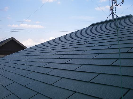 コロニアル屋根塗装施工完成