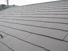 コロニアル材屋根の施工完了