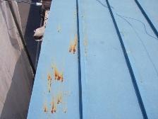 水洗いで落ちないトタン屋根の汚れ