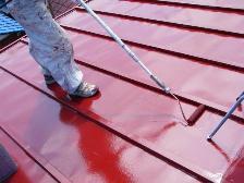 トタン屋根塗装、遮熱塗装風景