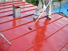 トタン屋根塗装、遮熱塗装風景2