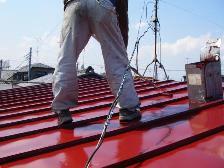 トタン屋根塗装、遮熱塗装風景3