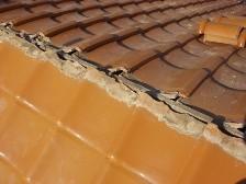 瓦屋根棟漆喰工事2