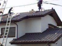 日本瓦漆喰土塗り・瓦用雪止め工事1