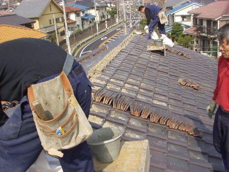 日本瓦漆喰土塗り・瓦用雪止め工事6