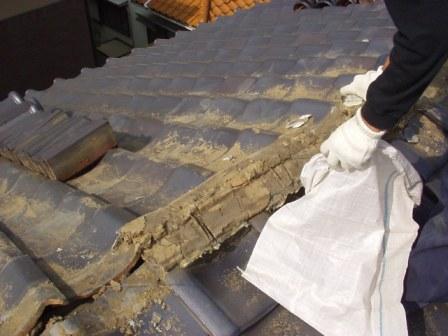 日本瓦漆喰土塗り・瓦用雪止め工事7