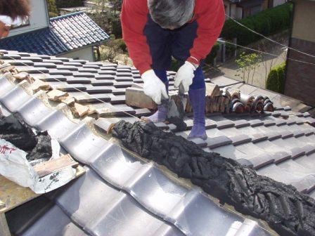 日本瓦漆喰土塗り・瓦用雪止め工事8