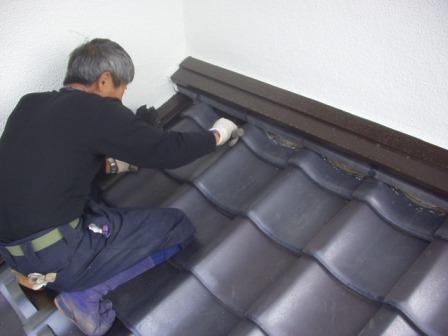 日本瓦漆喰土塗り・瓦用雪止め工事18