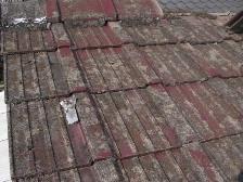 セメント瓦屋根の葺き替え工事1