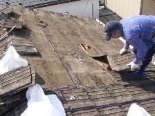 セメント瓦屋根の葺き替え工事4