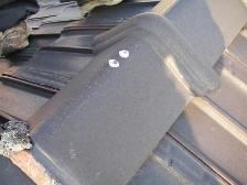 屋根釘コーキング2