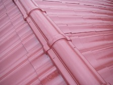 U瓦屋根塗装工事、施工後2