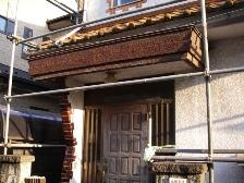 トタン屋根の構造を変えた板金工事と雨樋交換工事前