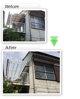 部分工事価格一覧|ベランダ波板交換工事|埼玉県|外壁塗装