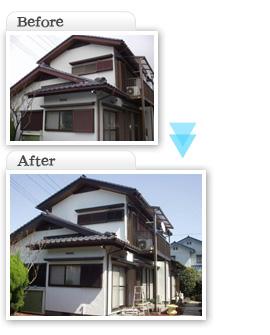 工事施工価格一覧F亭|所沢市のお客様|ベランダ波板交換、板交換、瓦漆喰塗り替え、瓦雪止め交換工事