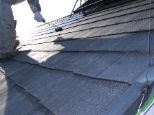コロニアル屋根塗装中塗り2
