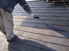 コロニアル屋根塗装中塗り3