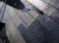 コロニアル屋根塗装中塗り4