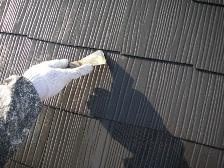 コロニアル屋根塗装中塗り6
