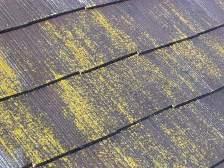 コロニアル屋根塗装前に高圧洗浄機で水洗い6