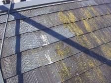 コロニアル屋根塗装前に高圧洗浄機で水洗い7