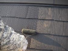 コロニアル屋根塗装上塗り1