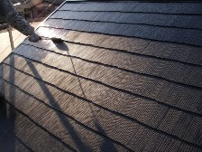 コロニアル屋根塗装上塗り3