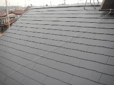 コロニアル屋根塗装上塗り施工完了
