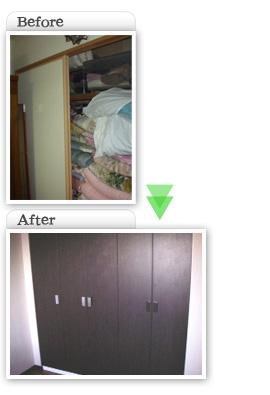 部分工事価格一覧|押入れからクロゼット交換工事|埼玉県|外壁塗装