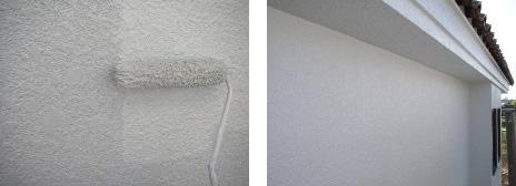 上塗は中塗の塗膜に重なり光沢も質感も深みを増していきます。|埼玉県|外壁塗装