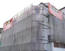 飛散防止ネットシート張り|埼玉県|外壁塗装