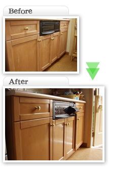 部分工事価格一覧|キッチン家具塗装 天然塗料使用|埼玉県|外壁塗装
