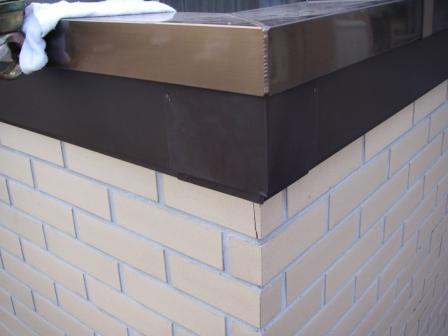 破風板板金トタン巻き込み工事10