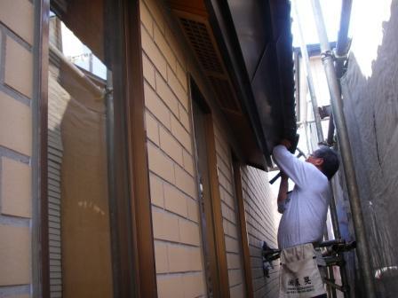 破風板板金トタン巻き込み工事3