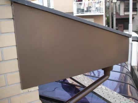 破風板板金トタン巻き込み工事8