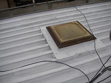 トタン屋根、錆止め塗装後
